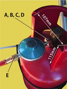 Gasflasche mit Gasdruckregler